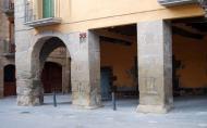 Sanaüja: Plaça Major  Ramon Sunyer