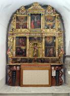 Prades de la Molsosa: El retaule del Roser a l'església de Sant Ponç  CRBMC