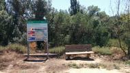 Sanaüja: Panell informatiu de rutes de la Vall  Ramon Sunyer
