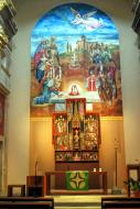 Ivorra: Sant Cugat retaule  Ramon Sunyer