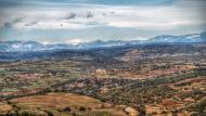 Ribelles: Vista de Grasnollers i Ribelles des de Palou  Ramon Sunyer