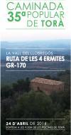 35a Caminada Popular de Torà: Ruta de les 4 ermites