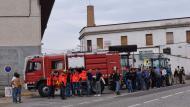 Torà: els bombers a primera fila  Ramon Sunyer