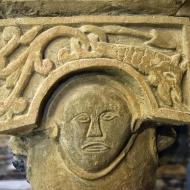 Cellers: Detall capitell cripta  Ramon Sunyer