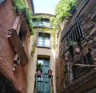 Torà: carrer Sant Sebastià  Ramon Sunyer