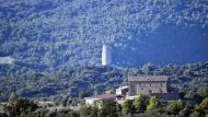 Sant Serni: vista de la torre de Vallferosa i mas Miralles  Ramon Sunyer