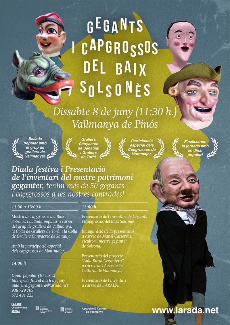 Diada festiva i Presentacióde l'inventari del patrimonigeganter del baix Solsonès.