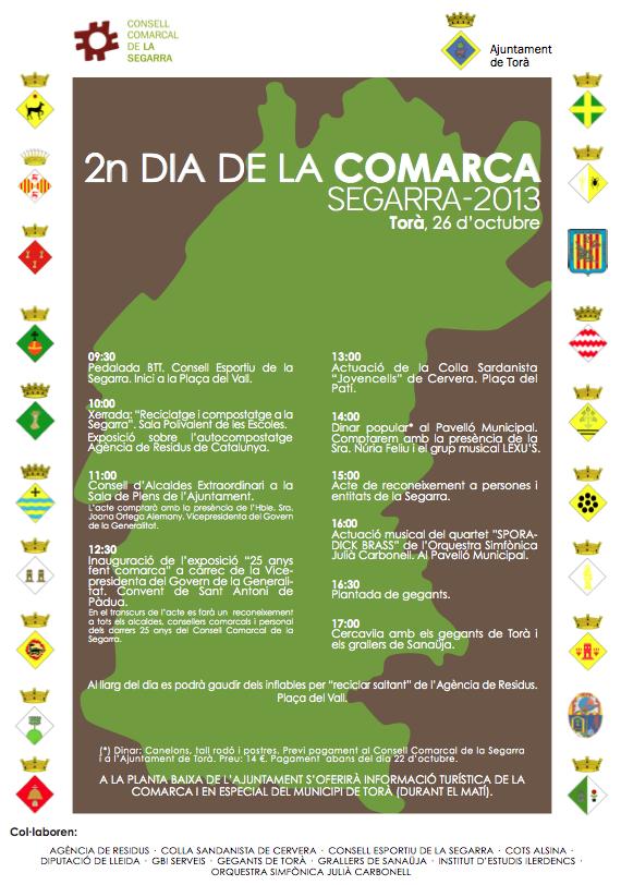 cartell 2n dia de la comarca Segarra-2013