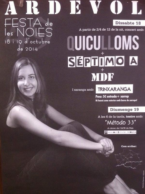 cartell Festa de les Noies
