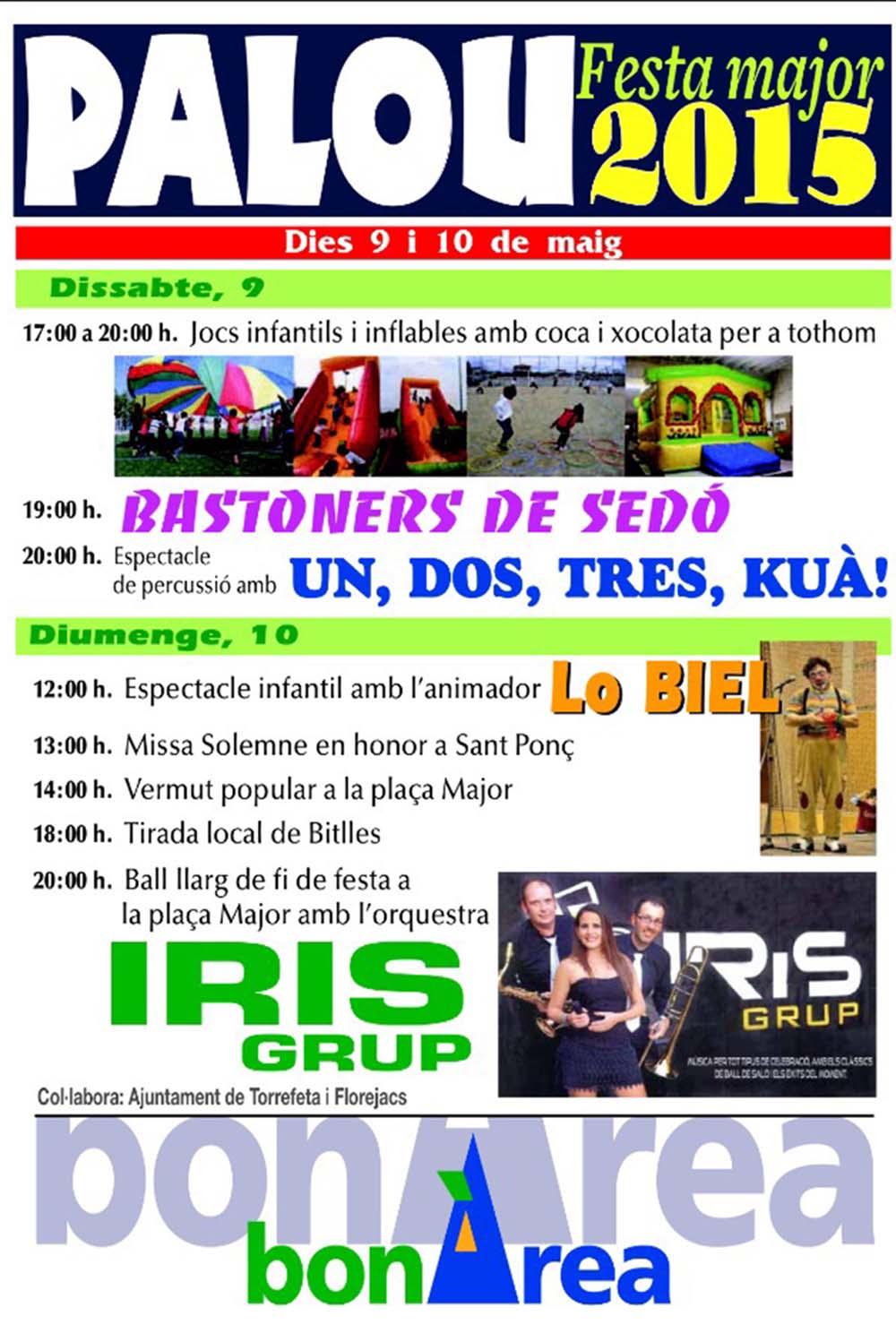 cartell Festa Major de Palou 2015