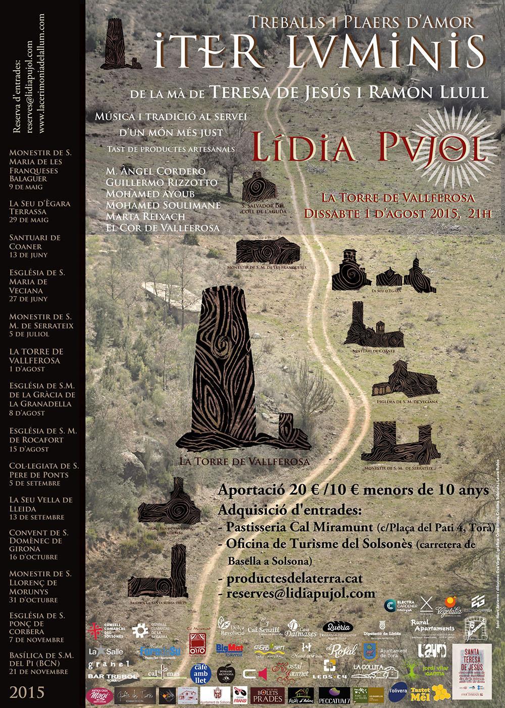 cartell Iter Luminis -Treballs i plaers d'amor a la Torre de Vallferosa