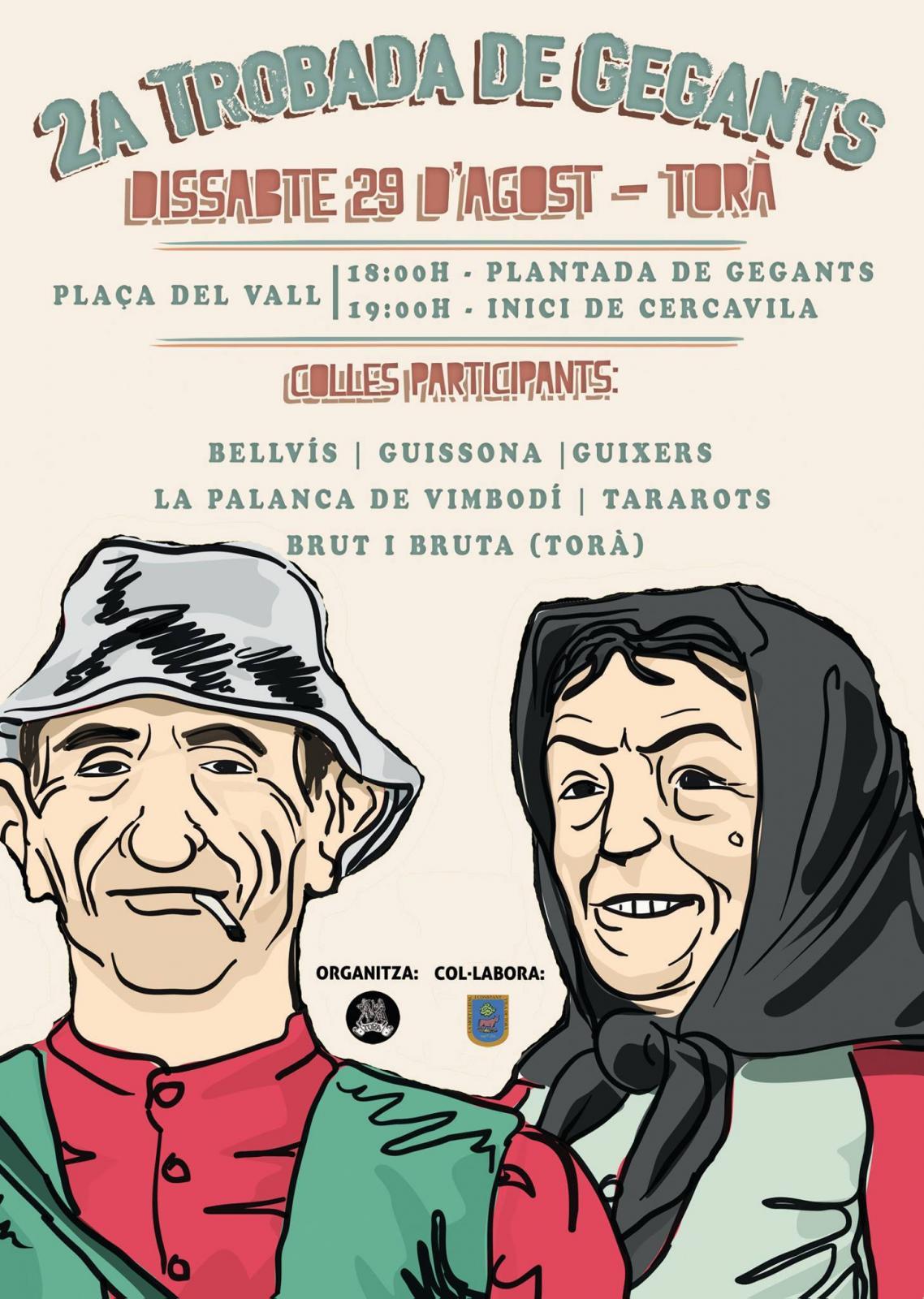 cartell 2a Trobada de gegants a Torà