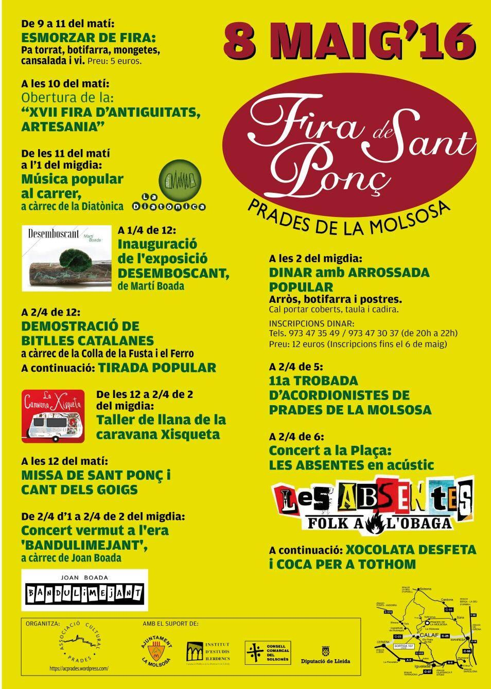 cartell Fira de Sant Ponç 2016