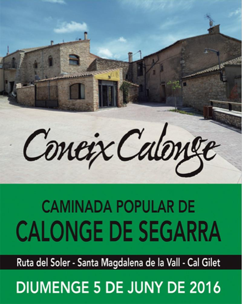 cartell 9a caminada popular Coneix Calonge