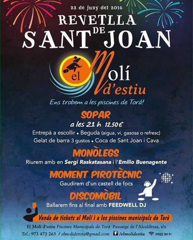cartell Revetlla de sant Joan