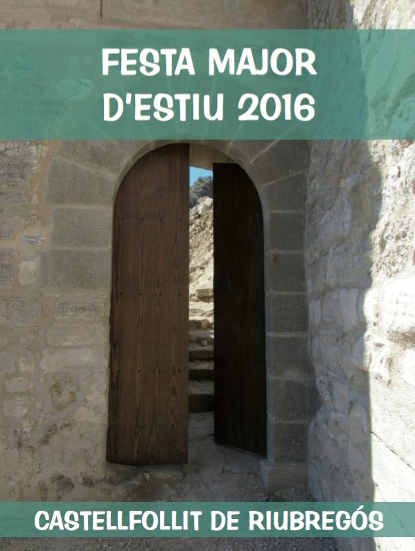 cartell Festa major d'estiu 2016