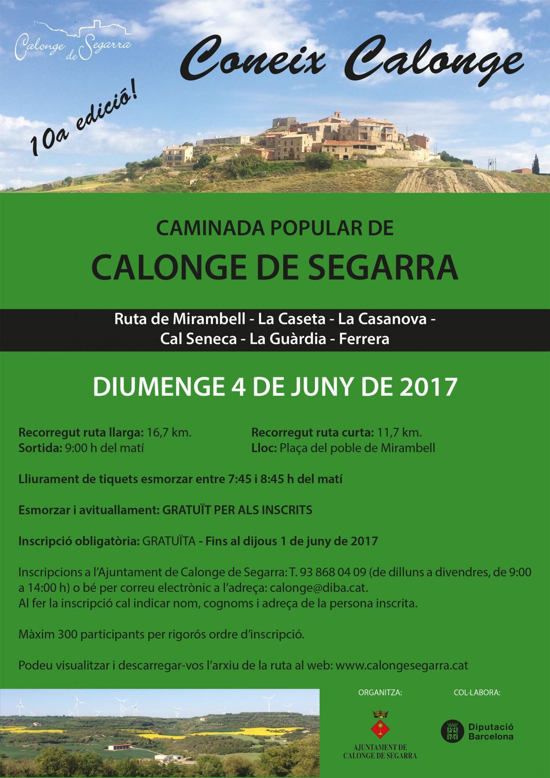 cartell 10a caminada popular Coneix Calonge