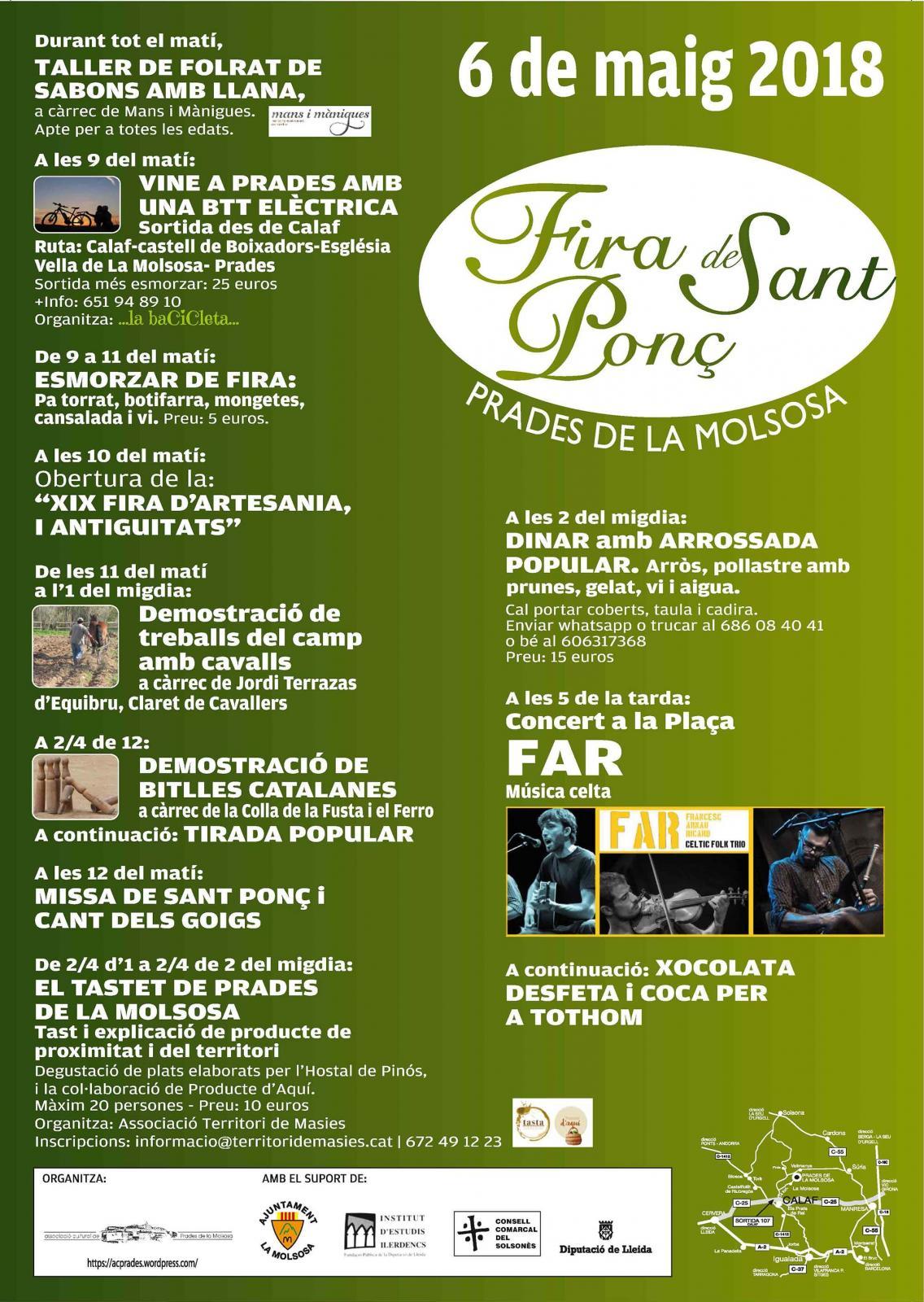 cartell Fira de Sant Ponç 2018