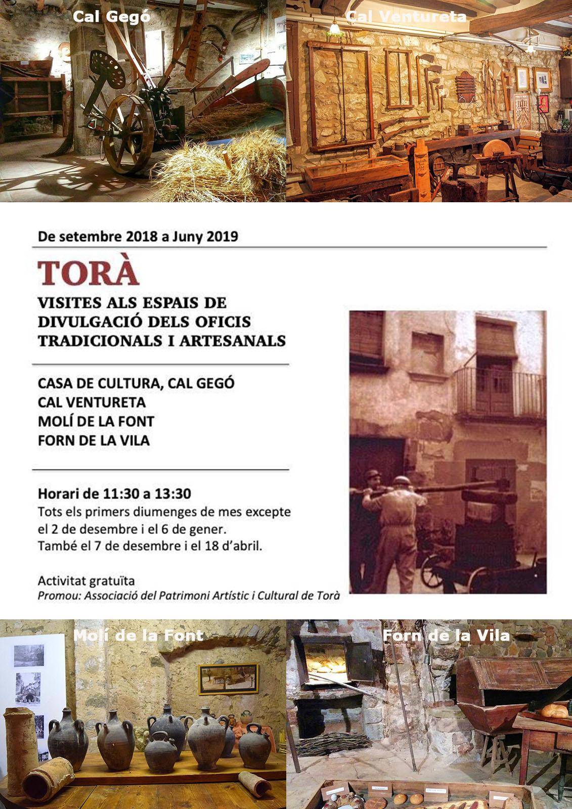 Visites als espais de divulgació dels oficis tradicionals de Torà