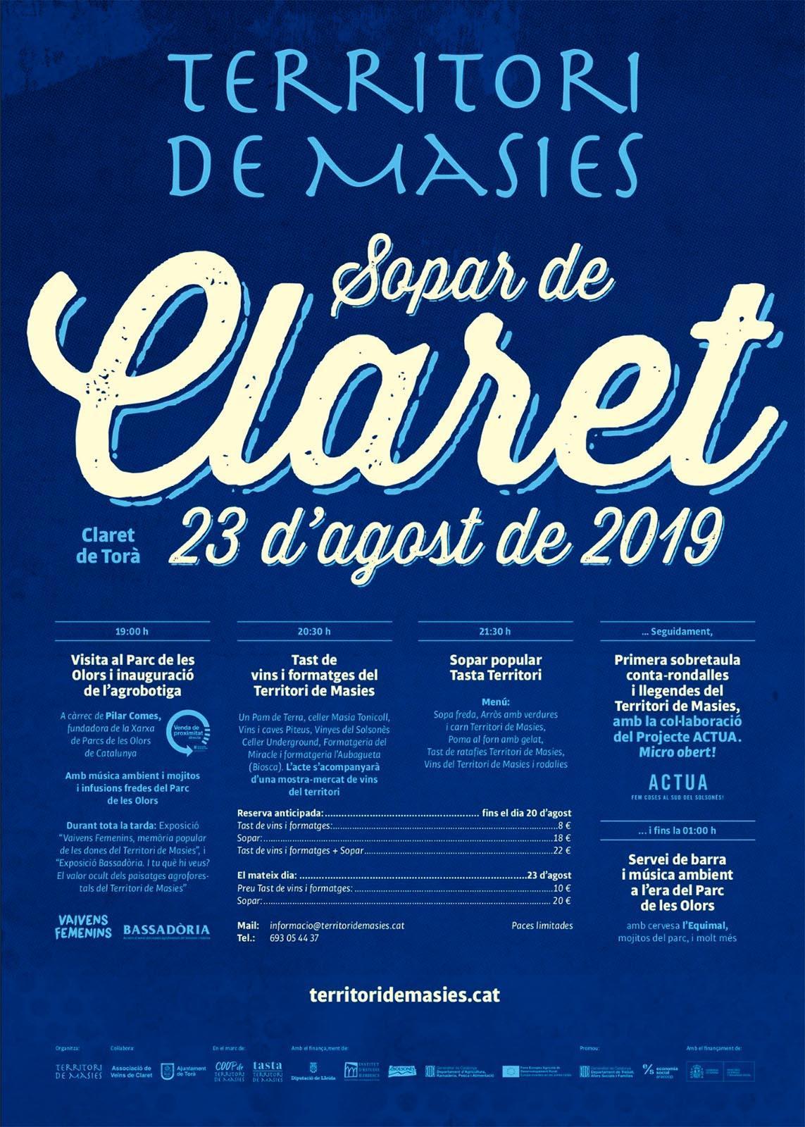 Sopar de Claret 2019