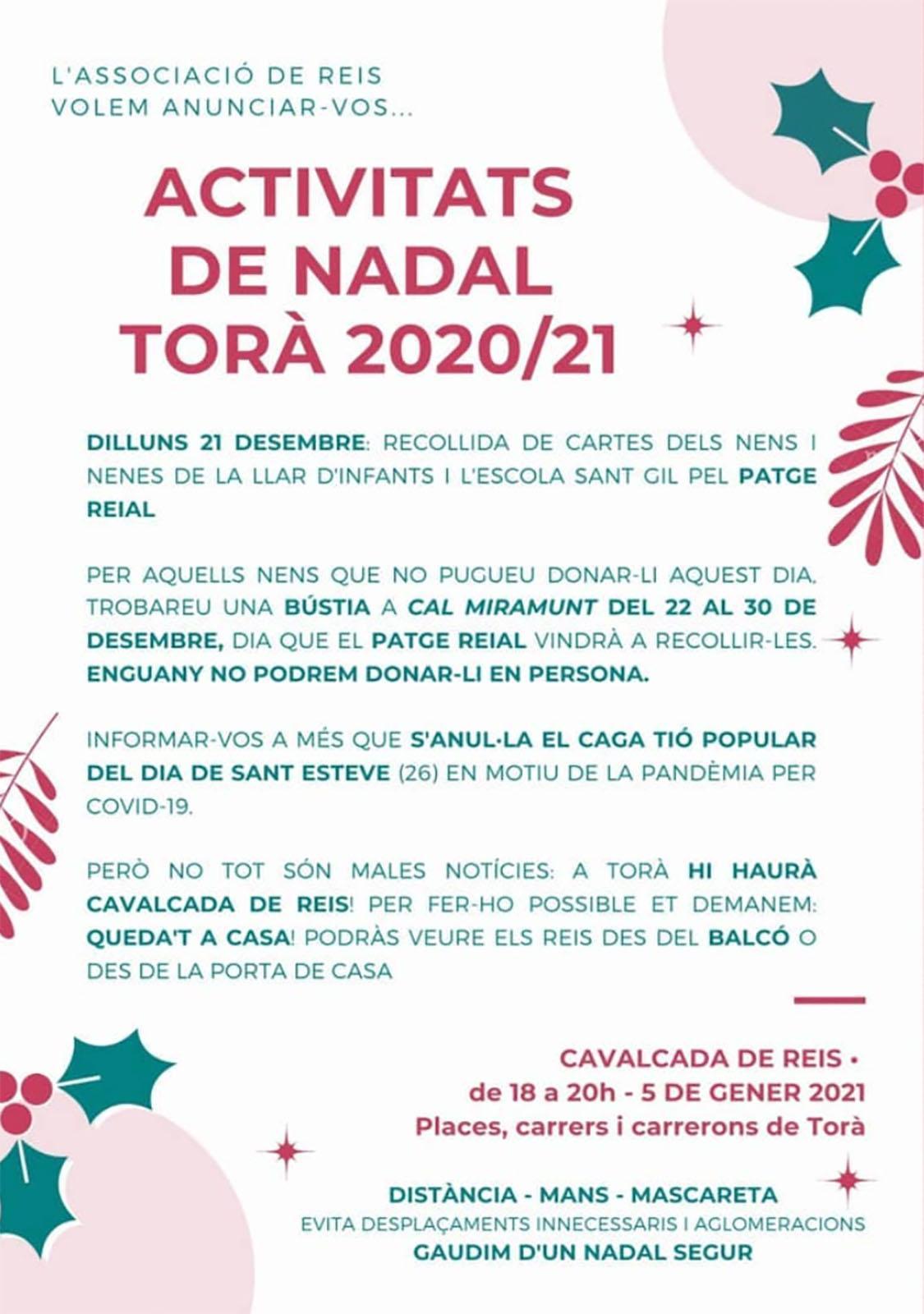Activitats de Nadal 2020/21 a Torà